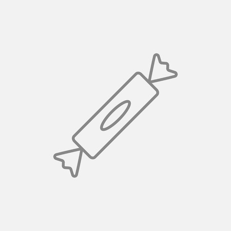 Candy line icon for web, mobile and infographics. Vector dark grey icon isolated on light grey background.