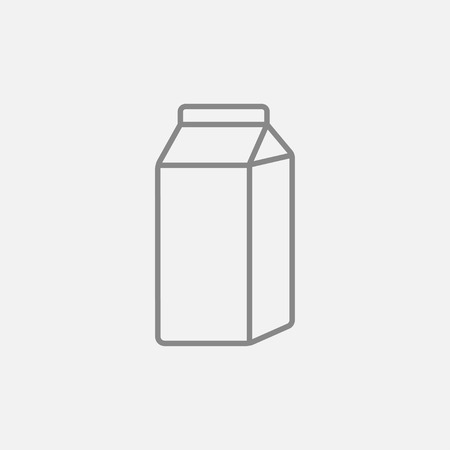 Packaged dairy product line icon for web, mobile and infographics. Vector dark grey icon isolated on light grey background.