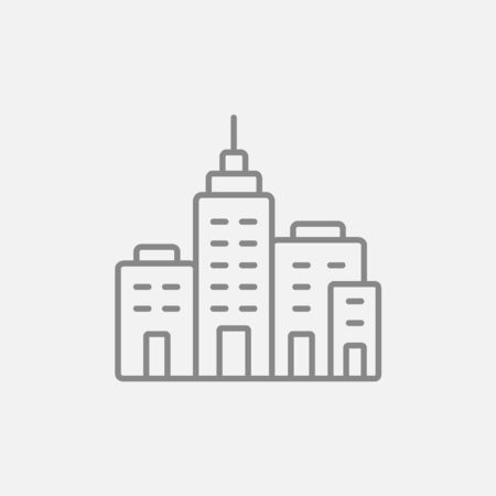 cemented: Residential buildings line icon for web, mobile and infographics. Vector dark grey icon isolated on light grey background.