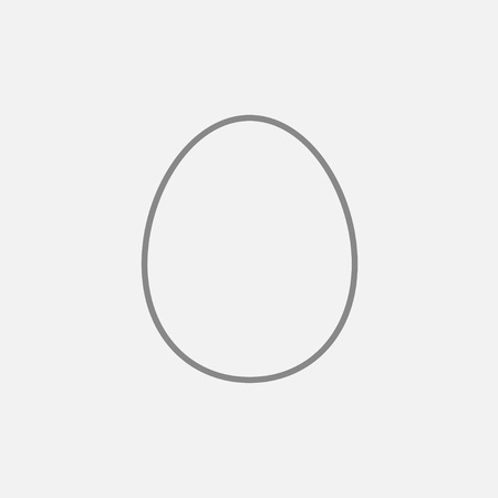 Egg line icon for web, mobile and infographics. Vector dark grey icon isolated on light grey background. Фото со стока - 48284875