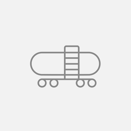 cistern: Railway cistern line icon for web, mobile and infographics. Vector dark grey icon isolated on light grey background. Illustration