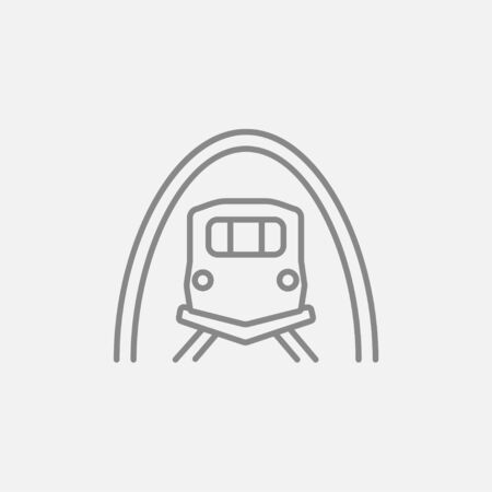 thoroughfare: Railway tunnel line icon for web, mobile and infographics. Vector dark grey icon isolated on light grey background.
