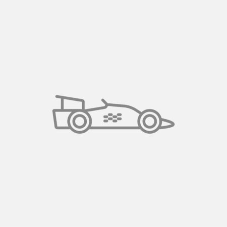 bolide: Race car line icon for web, mobile and infographics. Vector dark grey icon isolated on light grey background.