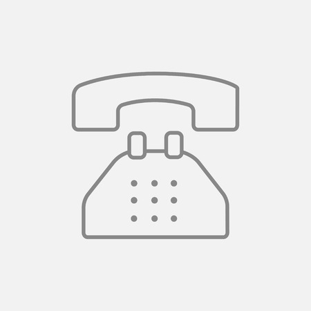 telephone line: Telephone line icon for web, mobile and infographics. Vector dark grey icon isolated on light grey background.
