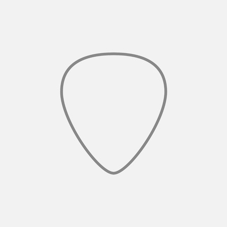 mediator: Guitar pick line icon for web, mobile and infographics. Vector dark grey icon isolated on light grey background.