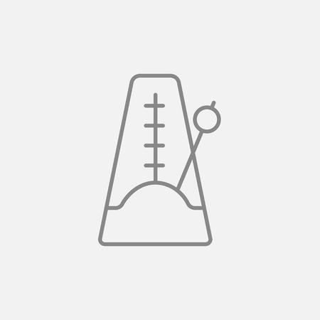 metronome: Metronome line icon for web, mobile and infographics. Vector dark grey icon isolated on light grey background. Illustration