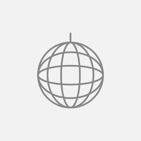 mirrorball: Disco ball line icon for web, mobile and infographics. Vector dark grey icon isolated on light grey background.