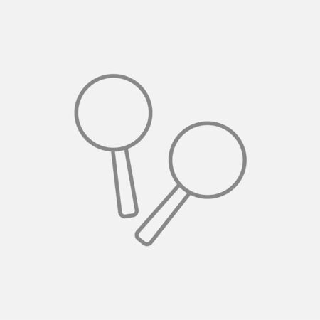 beanbag: Maracas line icon for web, mobile and infographics. Vector dark grey icon isolated on light grey background.