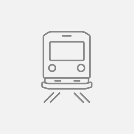 goods train: Back view of train line icon for web, mobile and infographics. Vector dark grey icon isolated on light grey background.