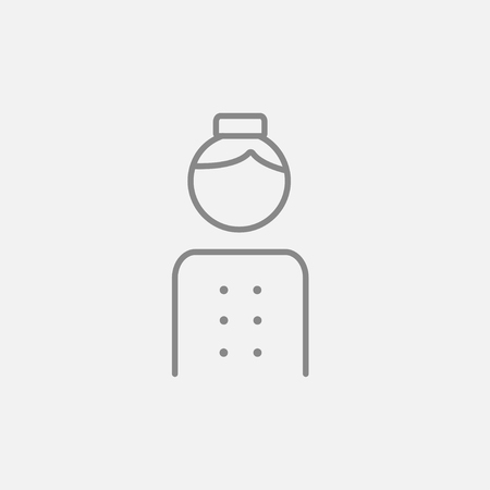 bellboy: Bellboy line icon for web, mobile and infographics. Vector dark grey icon isolated on light grey background.