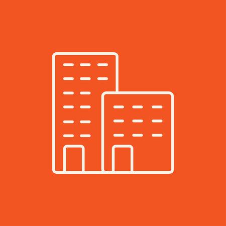 Werksleitung Symbol für Web, Mobile und Infografiken. Vektor-Blatt-Symbol auf rotem Hintergrund isoliert. Standard-Bild - 49270988