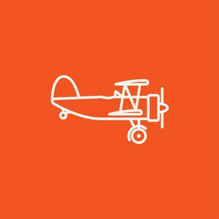 Icona linea del piano di Elica per il web, mobile e infografica. Vector bianco icona isolato su sfondo rosso. Archivio Fotografico - 49290705