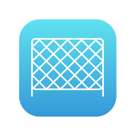 Sports nets line icon for web, mobile and infographics. Vector white icon on the blue gradient square with rounded corners isolated on white background. Illustration