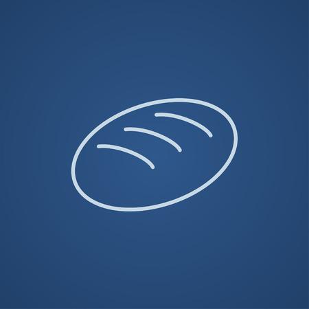 Web、モバイル、インフォ グラフィックのパン線アイコン。ベクトル ライト青アイコン青の背景に分離されました。