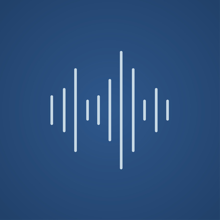 Equalizer line icon for web, mobile and infographics. Vector light blue icon isolated on blue background.