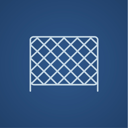 Sports nets line icon for web, mobile and infographics. Vector light blue icon isolated on blue background.