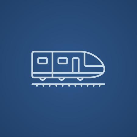 現代の高速列車線アイコン web、モバイルのインフォ グラフィックです。ベクトル ライト青アイコン青の背景に分離されました。
