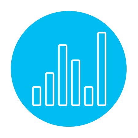 Equalizer line icon for web, mobile and infographics. Vector white icon on the light blue circle isolated on white background. 版權商用圖片 - 49884749