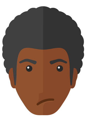 sneaky: Envious african-american man vector flat design illustration isolated on white background. Illustration