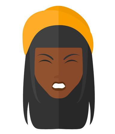 Schreien aggressive Frau Vektor flaches Design Illustration isoliert auf weißem Hintergrund. Standard-Bild - 50438134