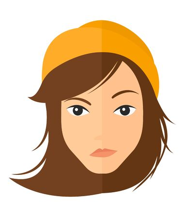 envious: Young envious woman vector flat design illustration isolated on white background. Vertical layout.