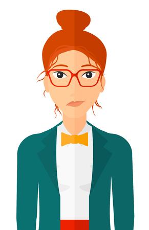 donna Invidioso in bicchieri vettore piatta illustrazione progettazione isolato su sfondo bianco. il layout verticale.