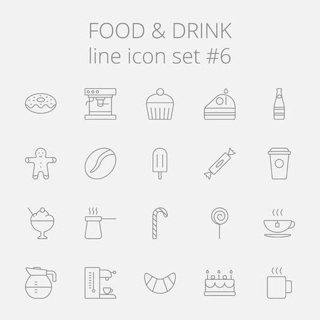 ice tea: Food and drink icon set. Vector dark grey icon isolated on light grey background.