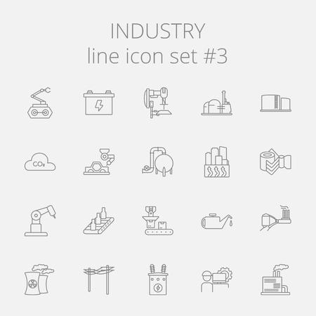 Industrie pictogramserie. Vector donker grijs pictogram geïsoleerd op de lichtgrijze achtergrond.
