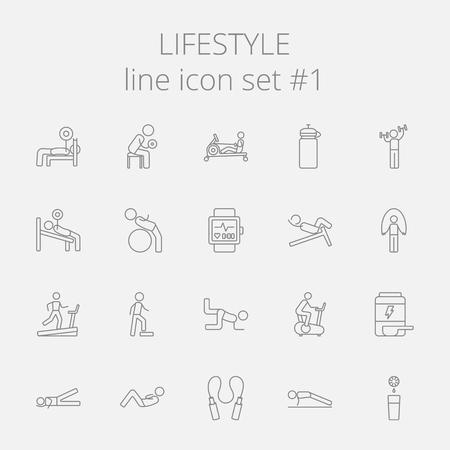 Lifestyle icon set. Vector dark grey icon isolated on light grey background.
