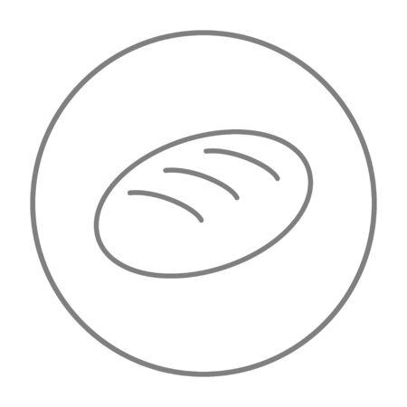Web、モバイル、インフォ グラフィックのパン線アイコン。白い背景で隔離サークルのベクトル灰色細い線アイコン。