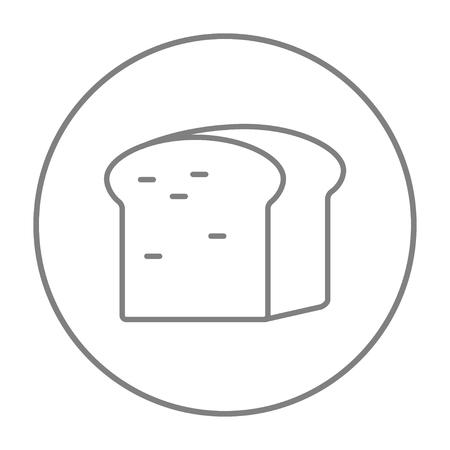 Web、モバイル、インフォ グラフィックのパン線アイコンの半分。白い背景で隔離サークルのベクトル灰色細い線アイコン。