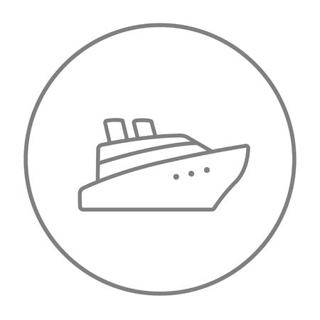 Yacht Skizze Symbol Für Web Und Mobile. Hand Gezeichnet Vektor ...