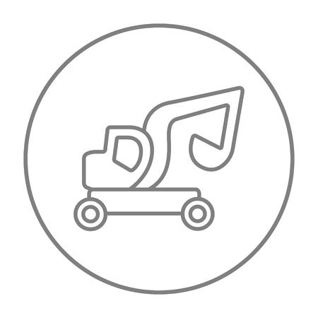 Bagger LKW Linie Symbol Für Web, Mobile Und Infografiken. Vector ...