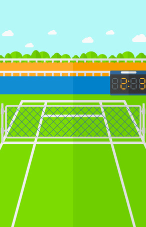 Background of tennis court vector flat design illustration. Vertical layout. Vectores