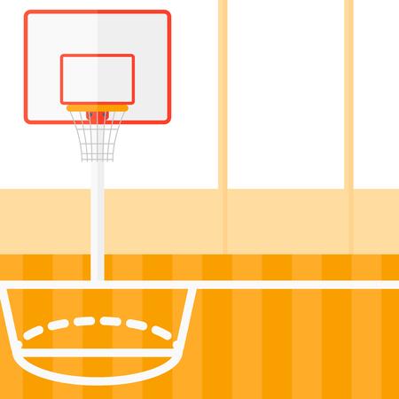 Arrière-plan de vecteur de terrain de basket design plat illustration. layout Square.