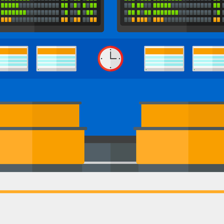 shapes cartoon: Background of schedule board in airport vector flat design illustration. Square layout.