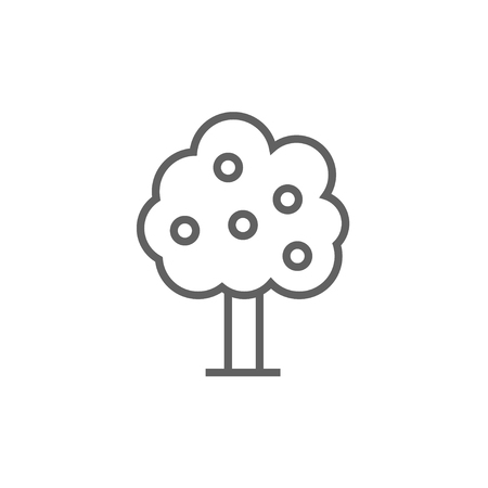 Fruit tree thick line icon with pointed corners and edges for web, mobile and infographics. Vector isolated icon. Vettoriali