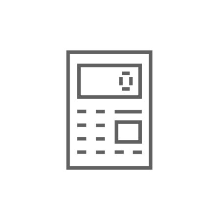 Calculator thick line icon with pointed corners and edges for web, mobile and infographics. Vector isolated icon. Illustration