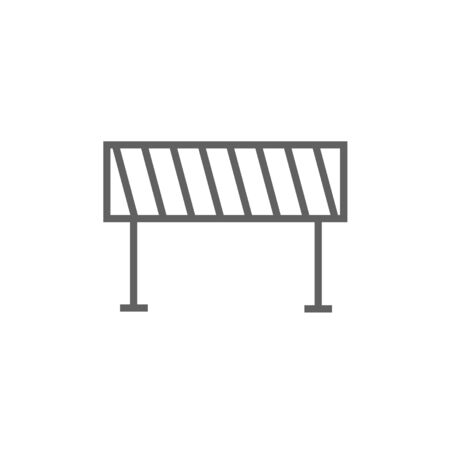 road barrier: Road barrier thick line icon with pointed corners and edges for web, mobile and infographics. Vector isolated icon.