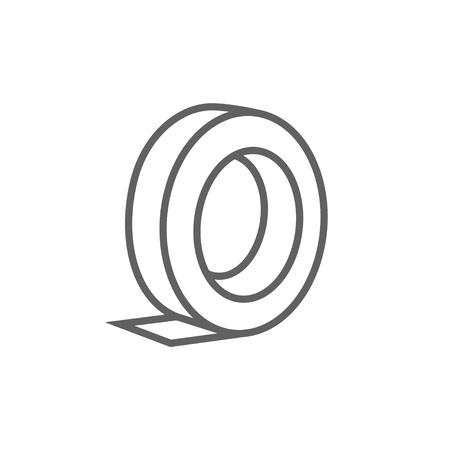 Broodje van plakband lijn pictogram voor web, mobiel en infographics. Vector donkergrijs pictogram op een witte achtergrond. Stockfoto - 53723895