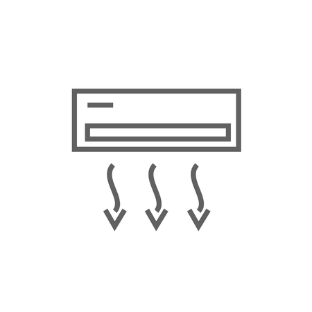Air conditioner thick line icon with pointed corners and edges for web, mobile and infographics. Vector isolated icon.