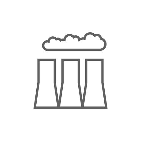 Fabrikrohre dicke Linie Symbol mit spitzen Ecken und Kanten für Web, Mobile und Infografiken. Vector isoliert Symbol. Standard-Bild - 53723939