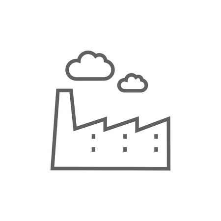 distill: Factory thick line icon with pointed corners and edges for web, mobile and infographics. Vector isolated icon. Illustration