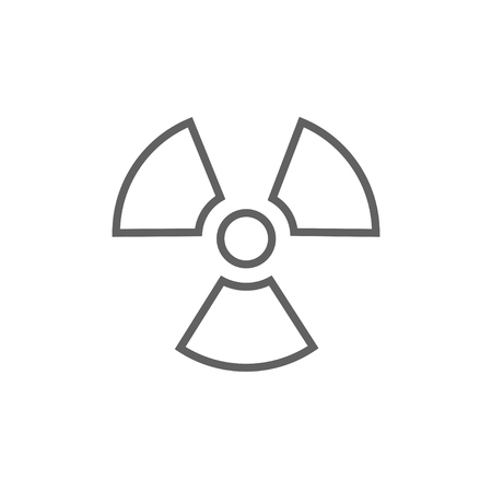 ionizing radiation: Ionizing radiation sign thick line icon with pointed corners and edges for web, mobile and infographics. Vector isolated icon.