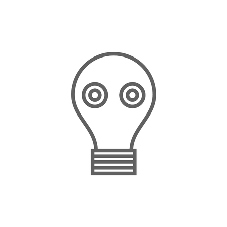 Gas mask thick line icon with pointed corners and edges for web, mobile and infographics. Vector isolated icon. Illustration