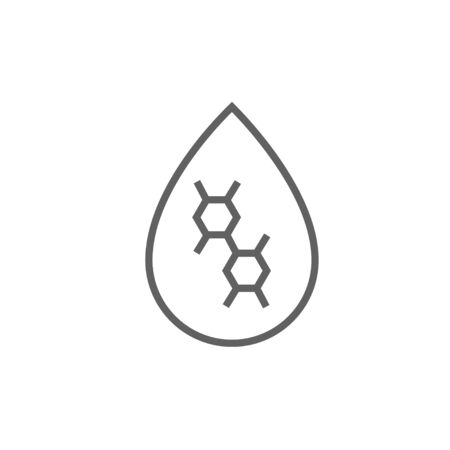 Oil drop thick line icon with pointed corners and edges for web, mobile and infographics. Vector isolated icon.