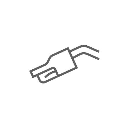 nozzle: Gasoline pump nozzle thick line icon with pointed corners and edges for web, mobile and infographics. Vector isolated icon. Illustration
