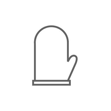 Kitchen glove thick line icon with pointed corners and edges for web, mobile and infographics. Vector isolated icon. Illusztráció