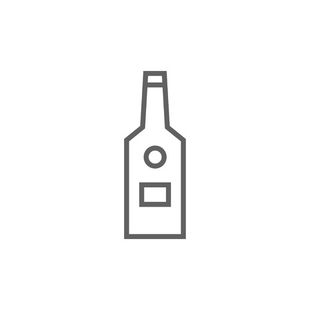 scotch: Glass bottle thick line icon with pointed corners and edges for web, mobile and infographics. Vector isolated icon. Illustration