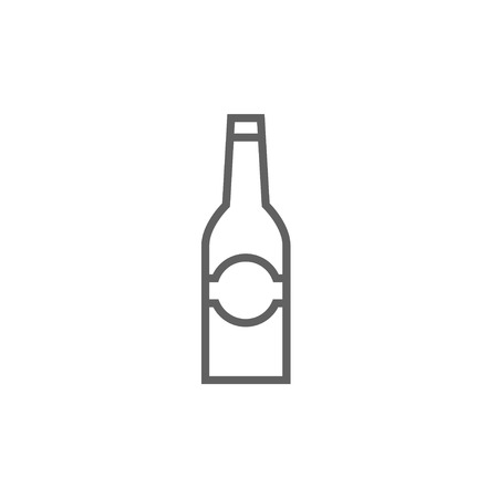 brandy: Glass bottle thick line icon with pointed corners and edges for web, mobile and infographics. Vector isolated icon. Illustration
